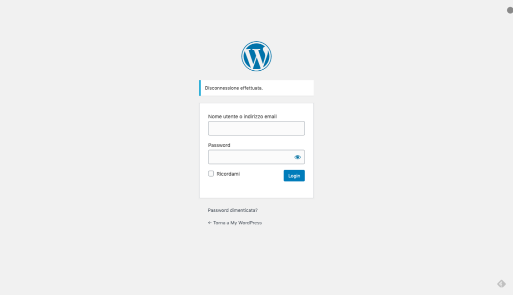 WordPress - LogIn