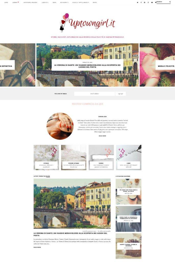 Lifestyle blog - Uptowngirl Screenshot Come aprire un blog