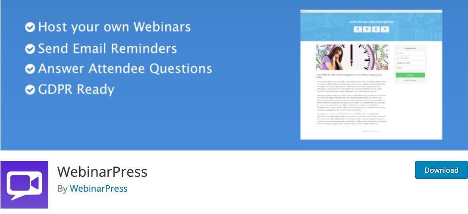 Webinar WordPress WebinarPress