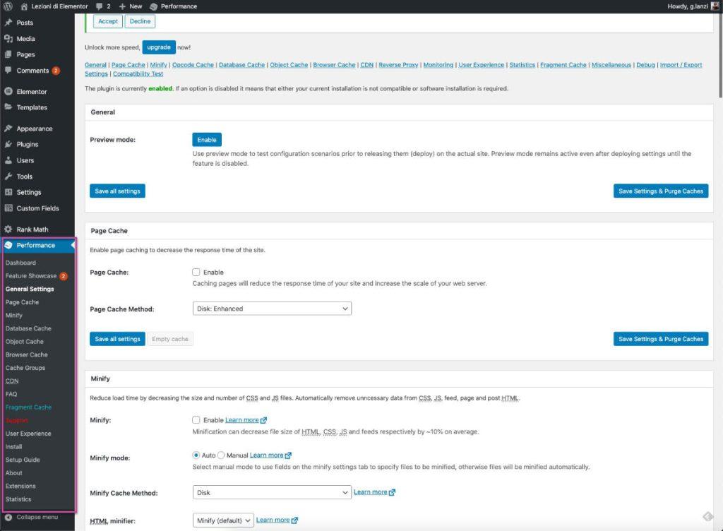 WordPress Cache Plugin WP W3 Total Cache