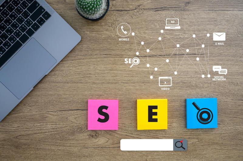 SEO per e-commerce SEO Concept