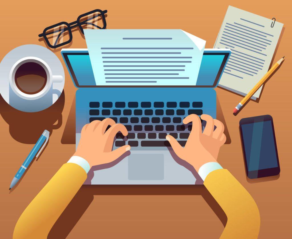 seo content writing scrivere al pc