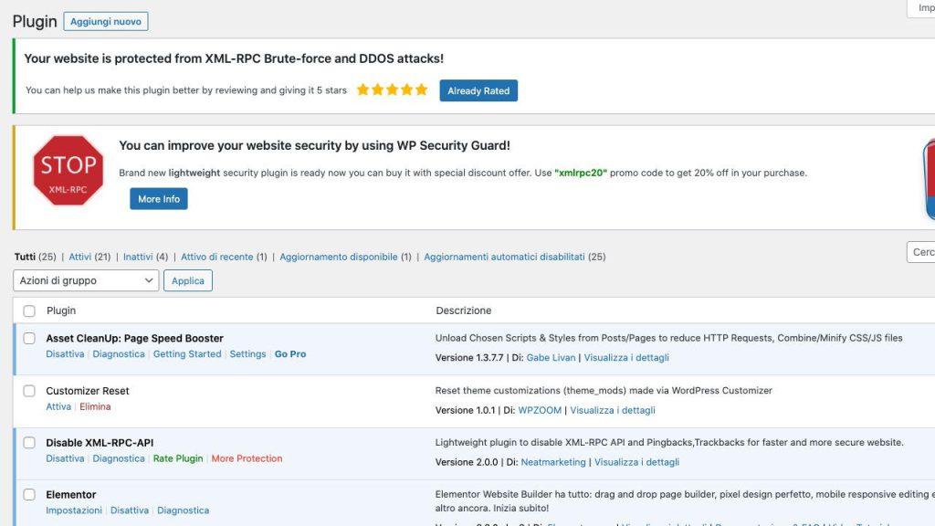 Plugin XML-RPC Banner